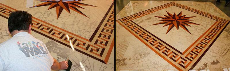 pavimento resina personalizzato